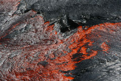 Molten lava. At the surface of the lava lake in the ethiopian Erta Ale volcano Royalty Free Stock Images