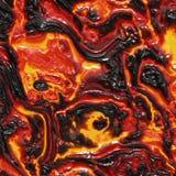 Molten Lava or Magma Stock Image