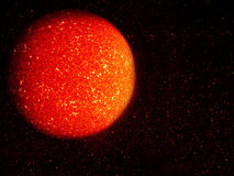 Molten lava orange sun, planet abstract background Stock Photos
