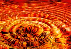Molten lava ripples Stock Photos