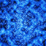 Molten mass of blue color.Background Stock Photography