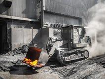 Molten metal carrier Liebherr Stock Photos