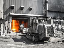 Molten metal carriers Liebherr Royalty Free Stock Images