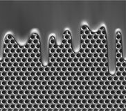 Molten metal on grille texture Stock Photography