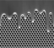 Molten metal on grille texture. Seamless metallic liquid on grille texture vector illustration