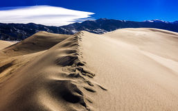 Molten Sand on Dune Crest Royalty Free Stock Photography