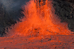 The molten slag flowing Royalty Free Stock Photography