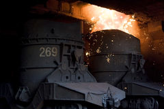 Molten steel. Royalty Free Stock Images