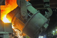 Molten steel Royalty Free Stock Images