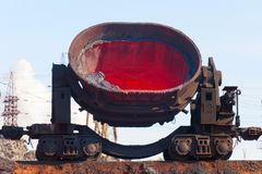 Molten steel bucket. Stock Photography