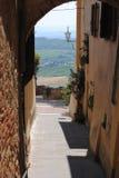 Moltepuclano, cidade de Tuscan do visitatat Imagem de Stock Royalty Free