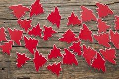 Molti alberi di Natale rossi come fondo Immagine Stock Libera da Diritti