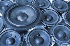 Molti altoparlanti - altoparlante per basse frequenze e altoparlanti per alte frequenze Fotografia Stock Libera da Diritti