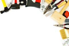 Molti attrezzi - riduca, martelli, forbici e fotografia stock libera da diritti