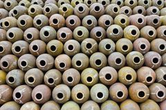 Molti barattoli di argilla Fotografie Stock