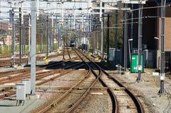 Molti binari ferroviari Fotografie Stock