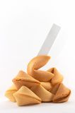Molti biscotti di fortuna cinesi impilati in su Fotografia Stock