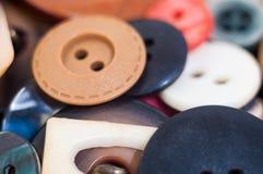 Molti bottoni graduati ed a forma di differenti Fotografia Stock Libera da Diritti