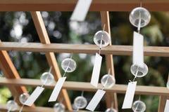 Molti carillon di vento di vetro Fotografia Stock Libera da Diritti