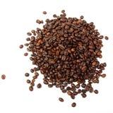 Molti chicchi di caffè scuri Fotografie Stock