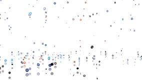 Molti chip di mazza che piovono con un pavimento di riflessione illustrazione di stock