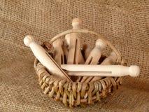 Clothespins fotografia stock