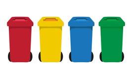 Molti colorano i recipienti dell'impennata messi illustrazione di stock