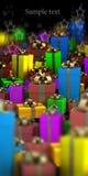 Molti colorano la priorità bassa dei contenitori di regalo Immagini Stock
