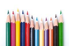 Molti colorano le matite Fotografia Stock