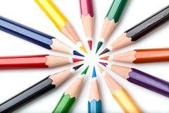 Molti colorano le matite Fotografia Stock Libera da Diritti