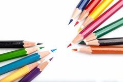 Molti colorano le matite Fotografie Stock Libere da Diritti