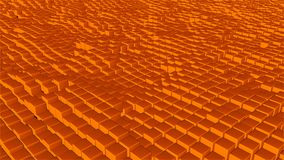 Molti cubi astratti, illusione ottica, contesto generato da computer moderno della rappresentazione 3D Fotografie Stock