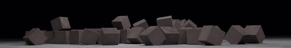 Molti cubi da cemento leggero Fotografia Stock