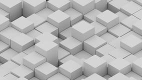 Molti cubi isometrici astratti, 3D generato da computer moderno rendere fondo illustrazione vettoriale