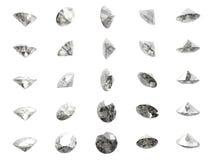 Molti diamanti fotografie stock