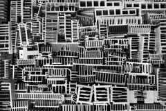 Molti dissipatori di calore di alluminio Fotografie Stock Libere da Diritti