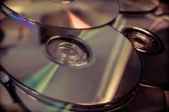 Molti dvds fotografia stock
