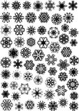Molti fiocchi di neve Fotografia Stock Libera da Diritti