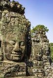 Molti fronti del Buddha immagine stock