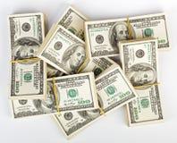 Molti gruppo degli Stati Uniti 100 dollari di banconote Fotografia Stock