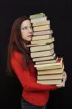 Molti libri Fotografie Stock