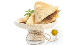 Molti pancake sottili Fotografia Stock Libera da Diritti