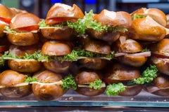 Molti panini del vegetariano Fotografie Stock Libere da Diritti