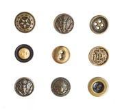 Molti piccoli bottoni originali Fotografie Stock