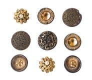 Molti piccoli bottoni originali Fotografia Stock Libera da Diritti
