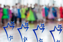 Molti premi di sport nella linea su Kinezis foggiano a coppa 2016 a Minsk Fotografia Stock Libera da Diritti