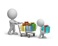 Molti regali Immagini Stock