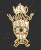Molti sogni che sono venuto per una tazza di tè avverata, in samovar Immagini Stock