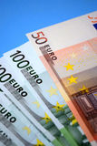 Molti soldi europei Immagini Stock Libere da Diritti
