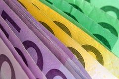 Molti soldi europei Fotografia Stock